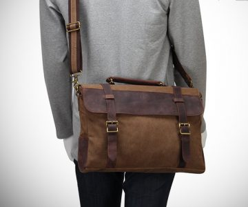 Hynes Eagle Retro Leather Messenger Bag