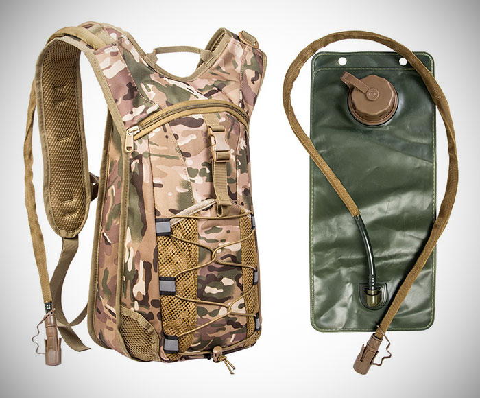 Military Style Hydration Backpack With Bladder