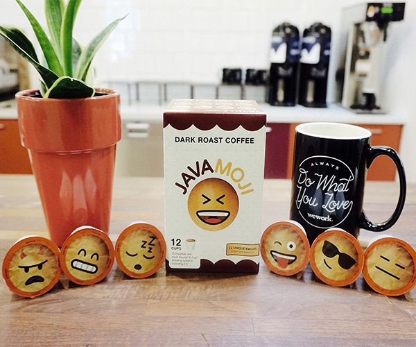 home food and drinks emoji k cups dark roast coffee by javamoji. Black Bedroom Furniture Sets. Home Design Ideas