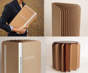 Bookniture: Furniture Hidden in a Book