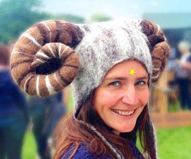 Ram Horned Fancy Dress Hat