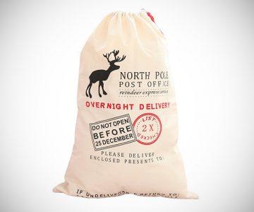Hessian Christmas Santa Claus Stocking Sack