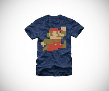 Nintendo Super Mario Bros 8-Bit Pixel T-Shirt