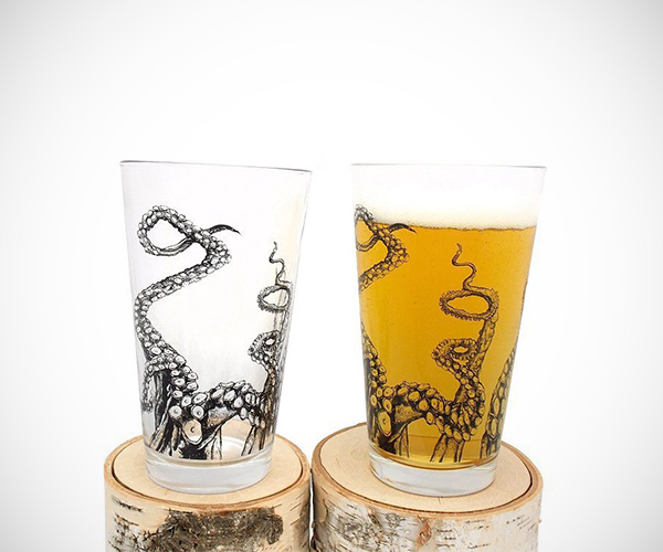 Octopus Tentacles Pint Glasses