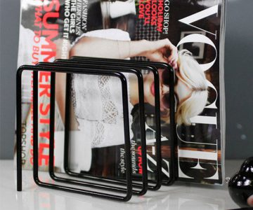 Block Magazine Rack
