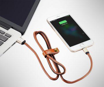 Gaoye Leather Lightning Cable