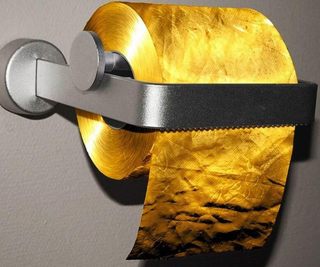 24 Carat Gold Toilet Paper