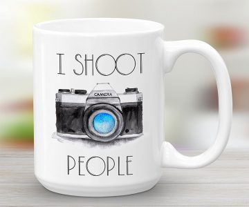 I Shoot People Camera Coffee Mug