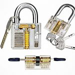 Transparent Lock Picking Practice Set