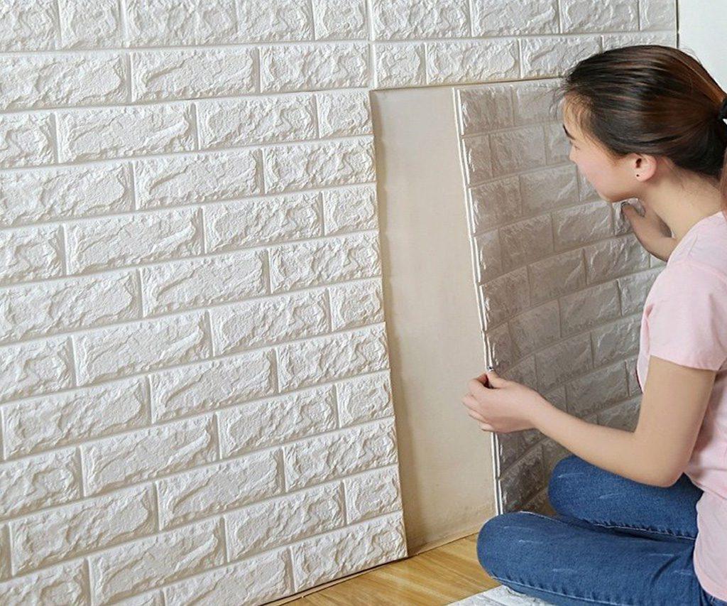 Foam 3D Brick Wall Decals
